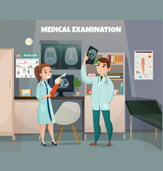 clinical tests lab composition vector image vector image
