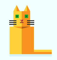 Cute bright flat cat vector