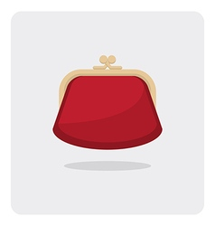 flat icon purse vector image vector image