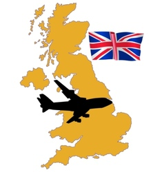 fly me to the United Kingdom vector image vector image