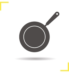 Frying pan icon vector