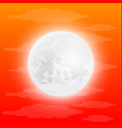 full moon in the clouds vector image vector image