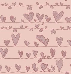 Hearts on stripe vector