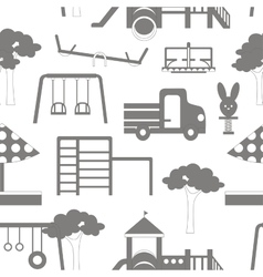 Icons set of playground equipments pattern vector