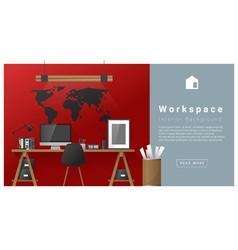 Interior design Modern workspace background 5 vector image