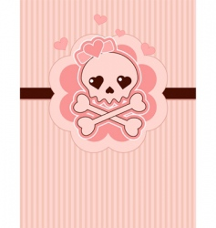 love skull vector image vector image