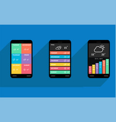 mobile user interface design vector image