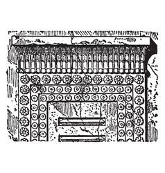 Persian architecture are architrave and cornice vector
