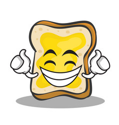Proud face bread character cartoon vector