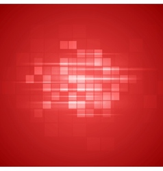 Red technical squares background vector
