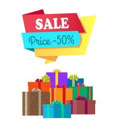 Sale price 50 half cost special exclusive offer vector