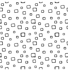 Seamless hand drawn pattern with squares vector