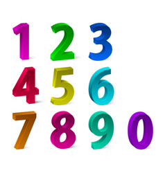 set of 3d colorful numbers for your advertising vector image