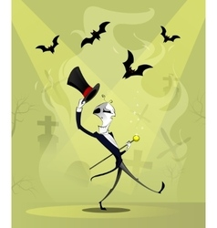 Skeletons dancing and smiling vector image