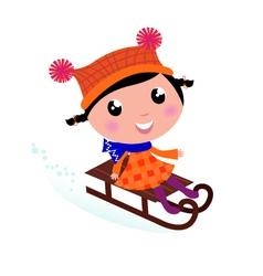 sledding vector image vector image