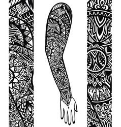 Tattoo style vector image vector image