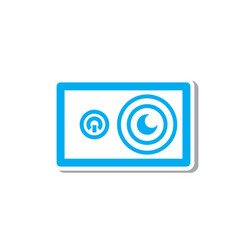 Thin line action camera icon vector