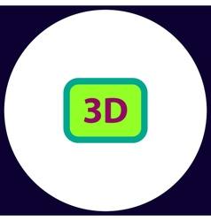 three dimensional computer symbol vector image vector image