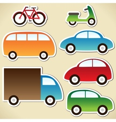 Transport set vector image