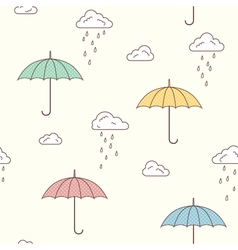 Umbrellas seamless background vector image