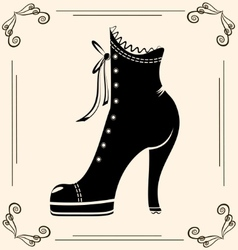 vintage ladies shoe vector image vector image