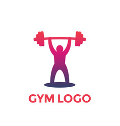 Weightlifting logo element vector