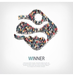 winner people sign 3d vector image