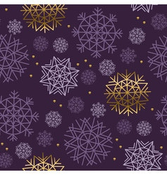 Xmas snowflakes seamless pattern gold and ink vector