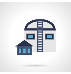 Industrial storage flat blue icon vector