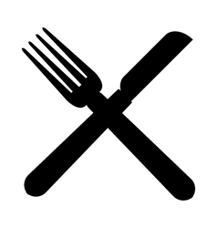 Icon kitchen cutlery vector