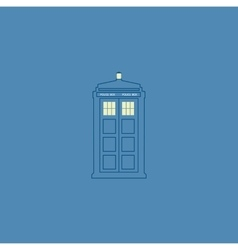British police box vector