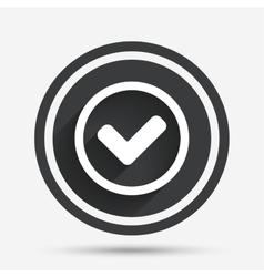 Check mark sign icon yes circle symbol vector