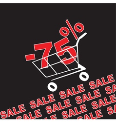 Big sale 75 percentage discount vector