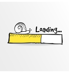 Loading bar with a doodle snail vector