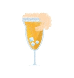 Drawing cocktail mimosa drink celebration vector