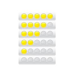 progress bar from circles vector image