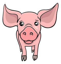 pig or piglet cartoon character vector image