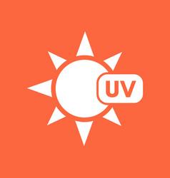 Uv radiation symbol vector