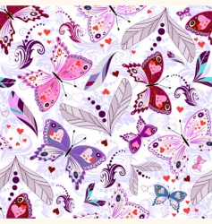 White seamless valentine pattern vector