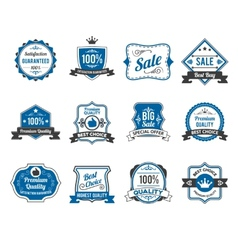 Retro sales labels icons collection vector