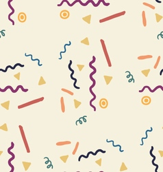 Party seamless pattern with streamers and confetti vector