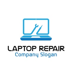 Laptop repair design vector