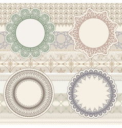 Lacy napkins vector