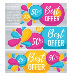 bubble banners vector image