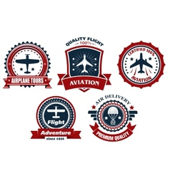Aircraft and aviation banners vector