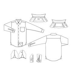 Blank shirt vector
