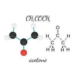 Ch3coch3 acetone molecule vector