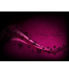 Christmas pink background with black snowflakes vector image vector image