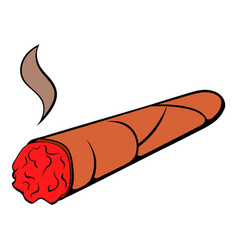 cigar icon cartoon vector image