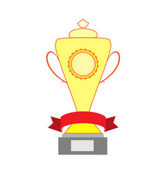 cup and ribbon reward vector image vector image